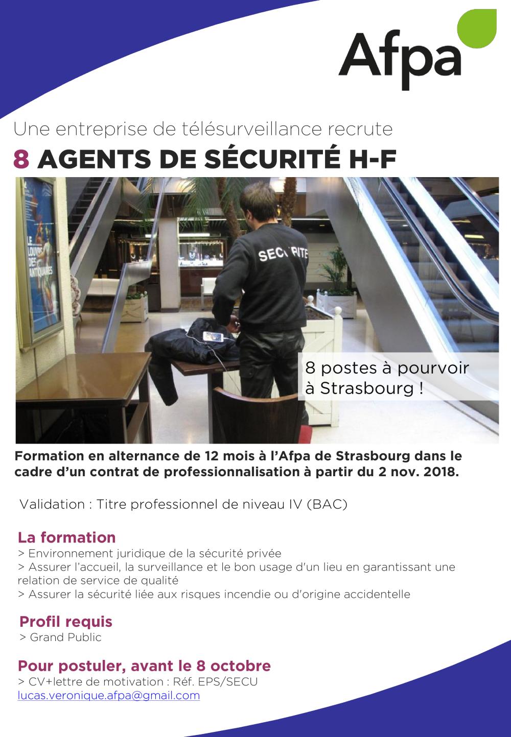 Affiche Cpro Agent De Sécurité Eps Véronique Lucas Afpa