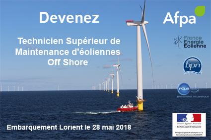 Devenez Technicien supérieur de maintenance en éolien off-shore